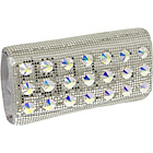 Buy Whiting and Davis Crystal Stud Clutch by Whiting and Davis