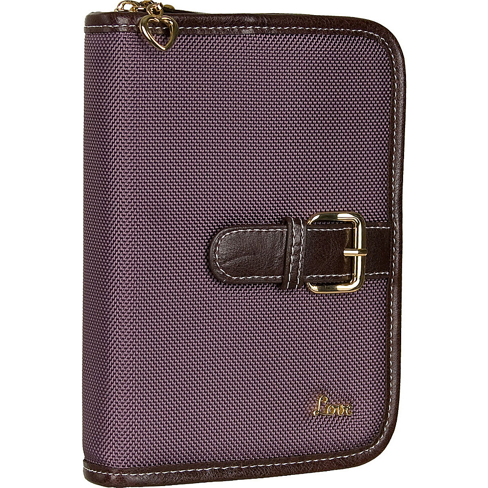 "Protec ""Love"" Compact Book/Bible Cover - Mauve"