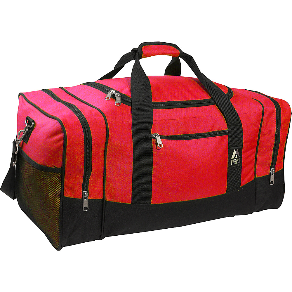 Everest 20 Sporty Gear Bag Red/Black - Everest Gym Duffels - Duffels, Gym Duffels