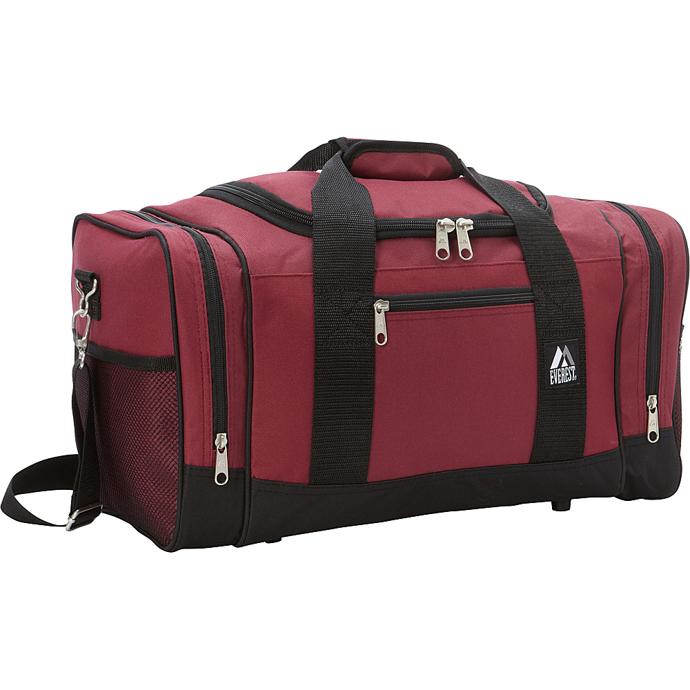 Everest 20 Sporty Gear Bag Burgundy/Black - Everest Gym Duffels - Duffels, Gym Duffels