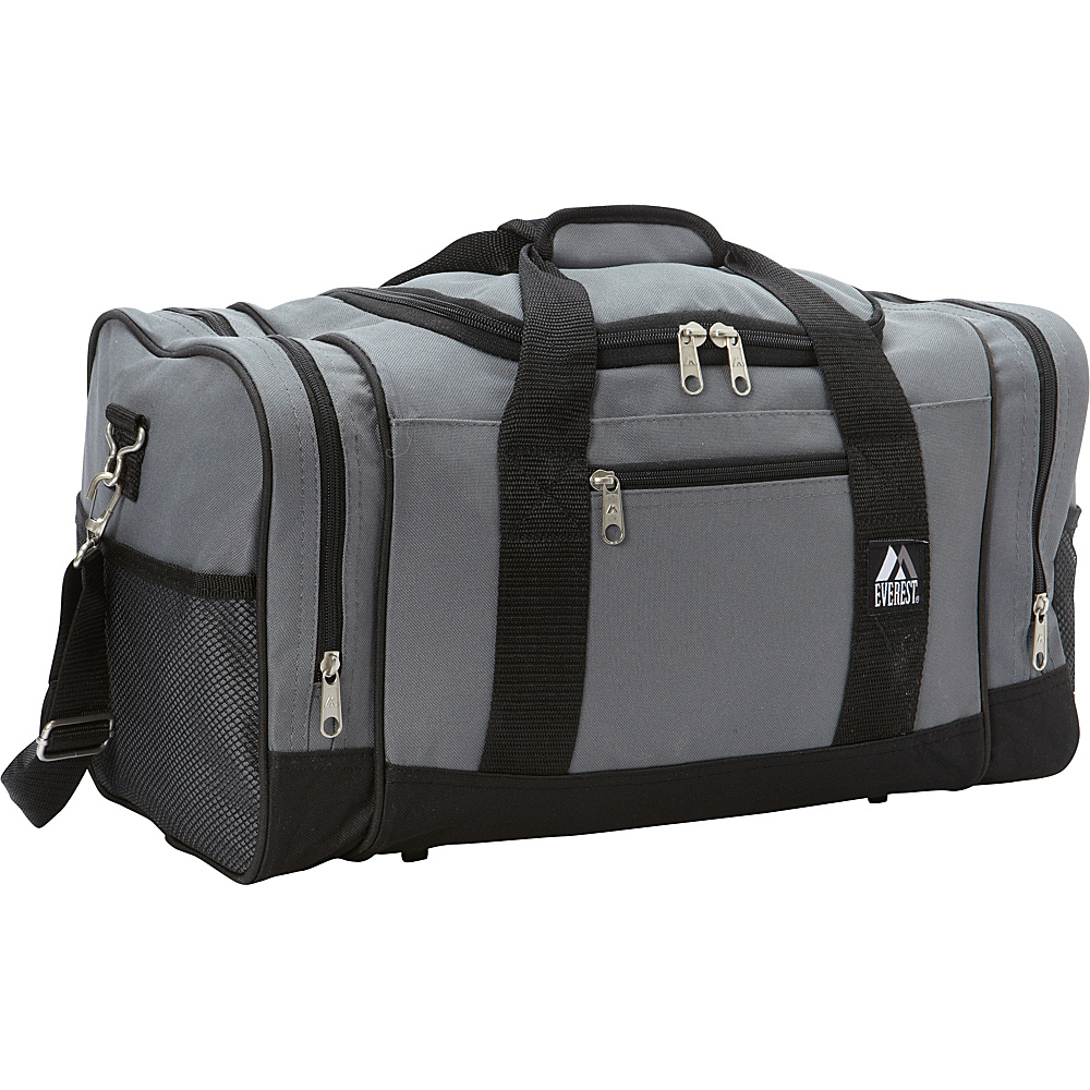 Everest 20 Sporty Gear Bag Gray/Black - Everest Gym Duffels - Duffels, Gym Duffels