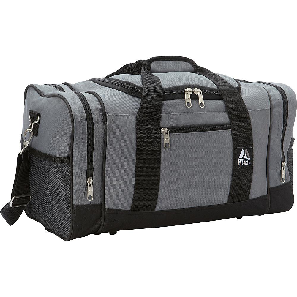 Everest 20 Sporty Gear Bag Gray/Black - Everest Gym Duffels - Duffels, Gym Duffels