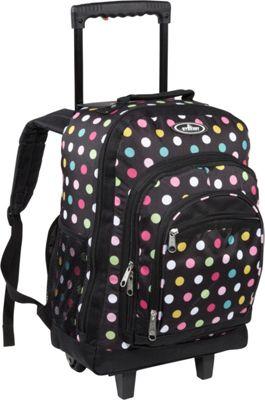 Everest Patterned Wheeled Backpack Polkadot - Everest Rolling Backpacks