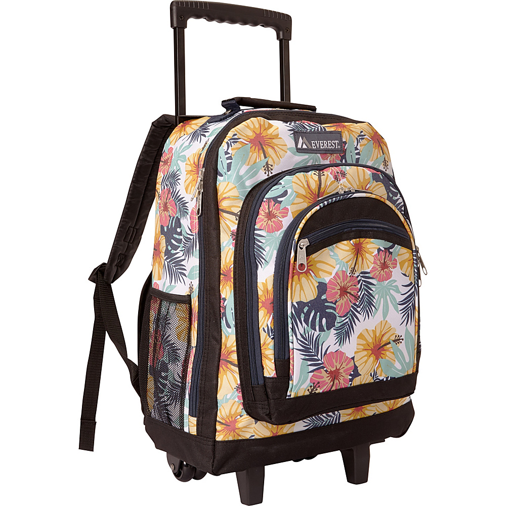 Everest Patterned Wheeled Backpack Tropical - Everest Rolling Backpacks - Backpacks, Rolling Backpacks