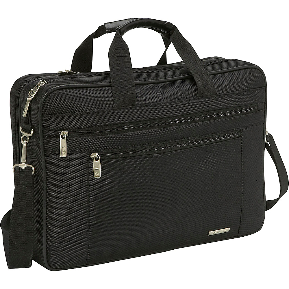 Samsonite Classic Two Gusset 17 Toploader Black - Samsonite Non-Wheeled Business Cases - Work Bags & Briefcases, Non-Wheeled Business Cases