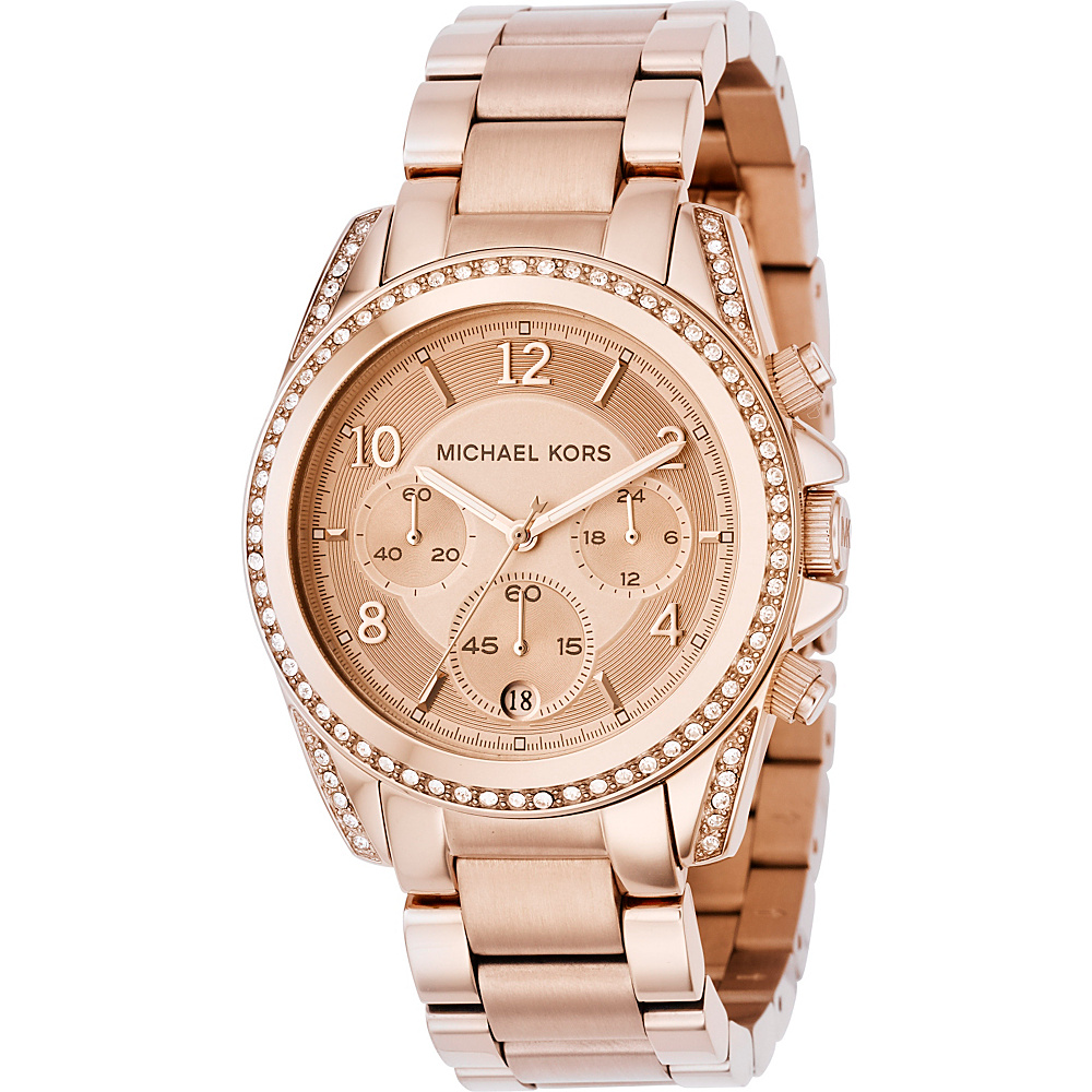 Michael Kors Watches Ladies Rose Gold Blair Rose Gold