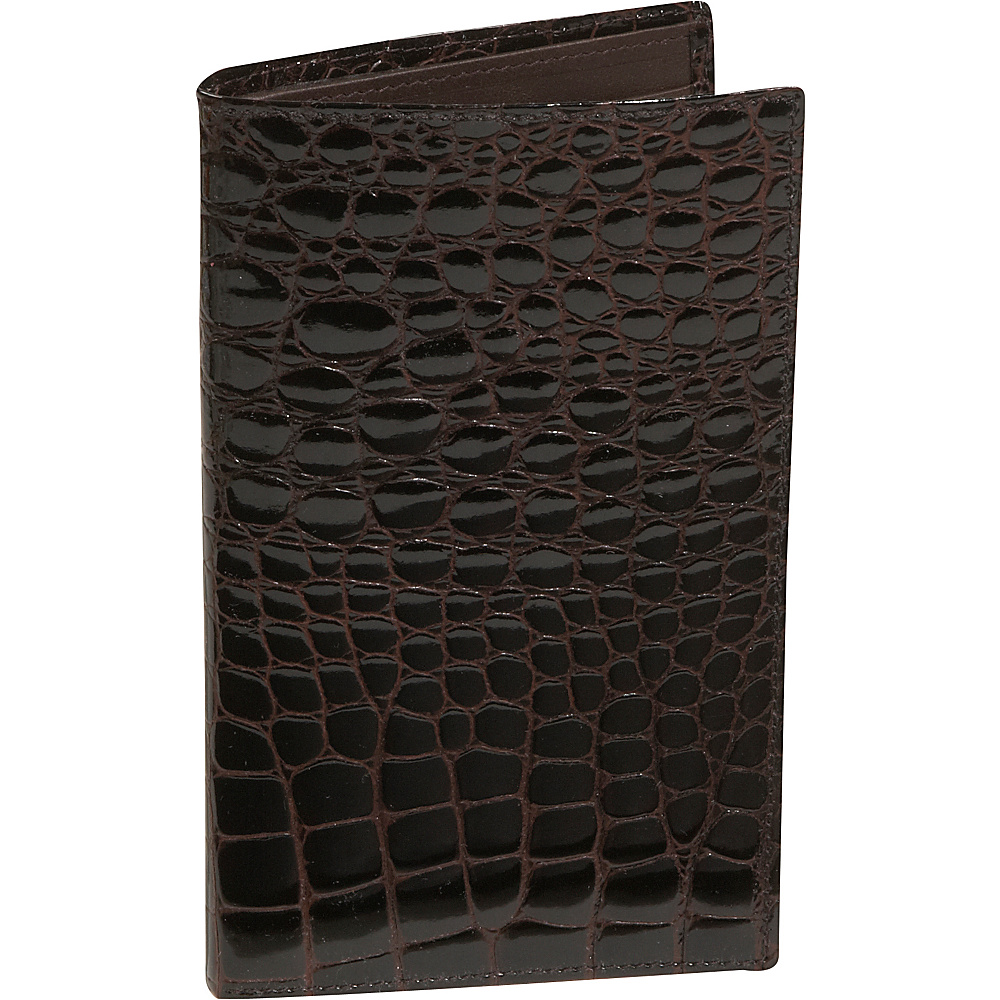 Budd Leather Crocodile Bidente Large Credit Card
