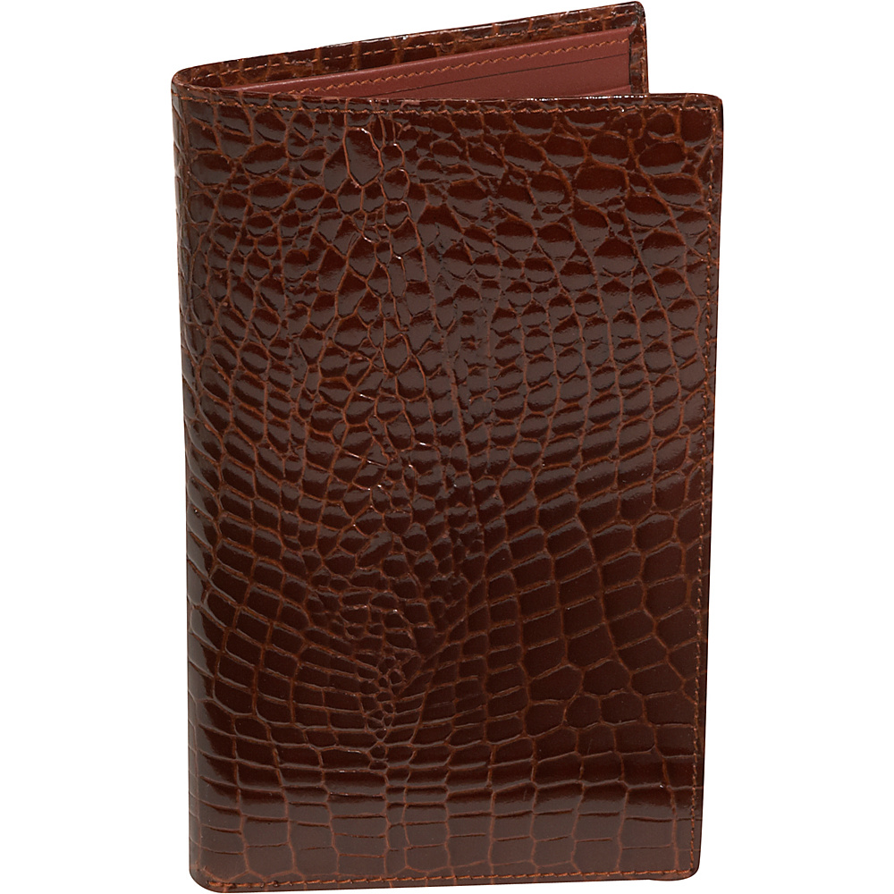 Budd Leather Crocodile Bidente Large Credit Card - Work Bags & Briefcases, Men's Wallets