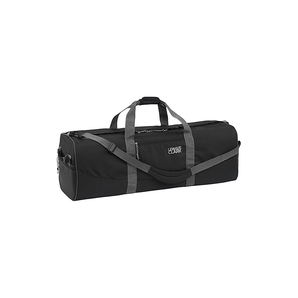Lewis N. Clark Uncharted Duffel Bag - Medium - Black - Luggage, Rolling Duffels