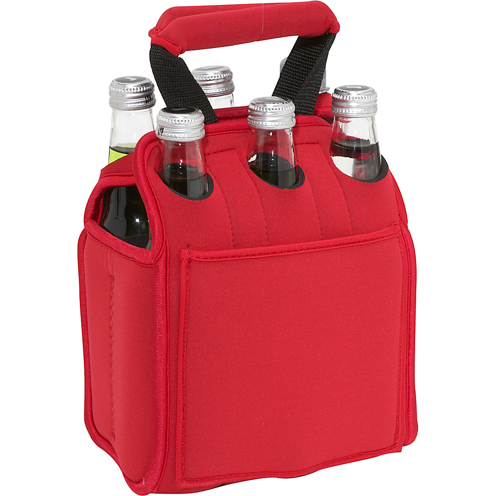 Picnic Time Six Pack Neoprene Tote Red
