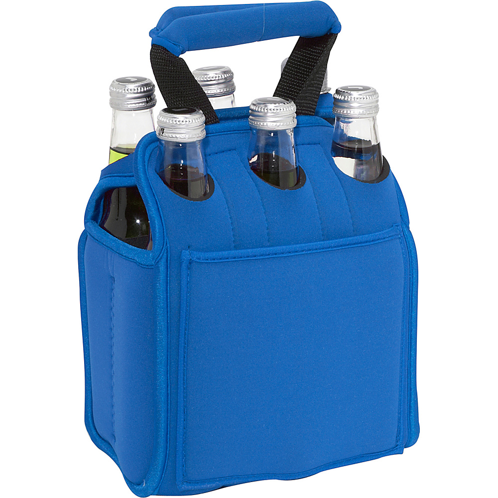 Picnic Time Six Pack Neoprene Tote Blue