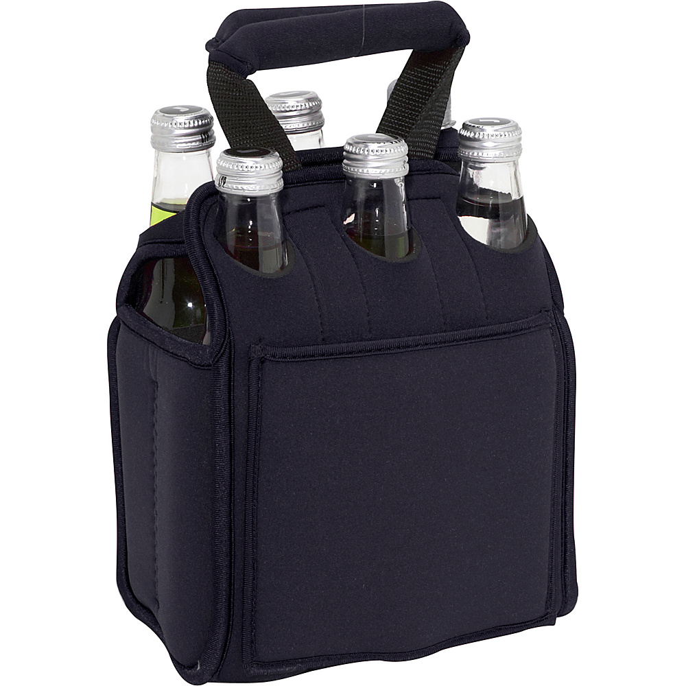 Picnic Time Six Pack Neoprene Tote Black