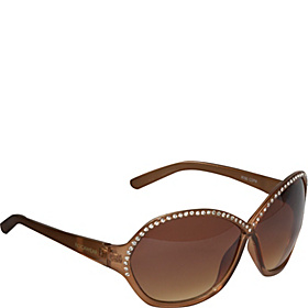 Round Stone Embellished Sunglasses Copper Metallic