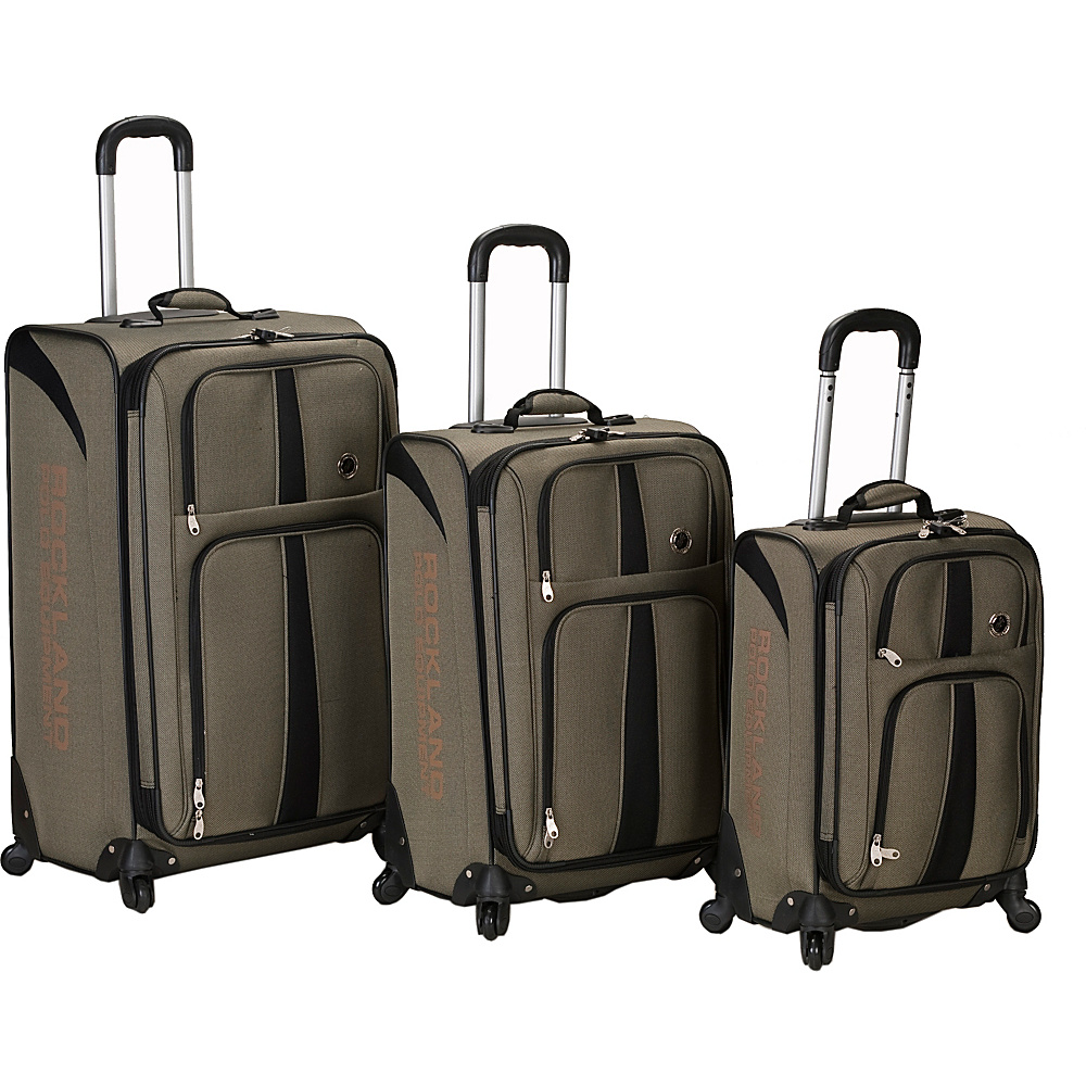 Rockland Luggage 3 Piece Eclipse Spinner Luggage Set -