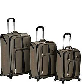 3 Piece Eclipse Spinner Luggage Set Khaki