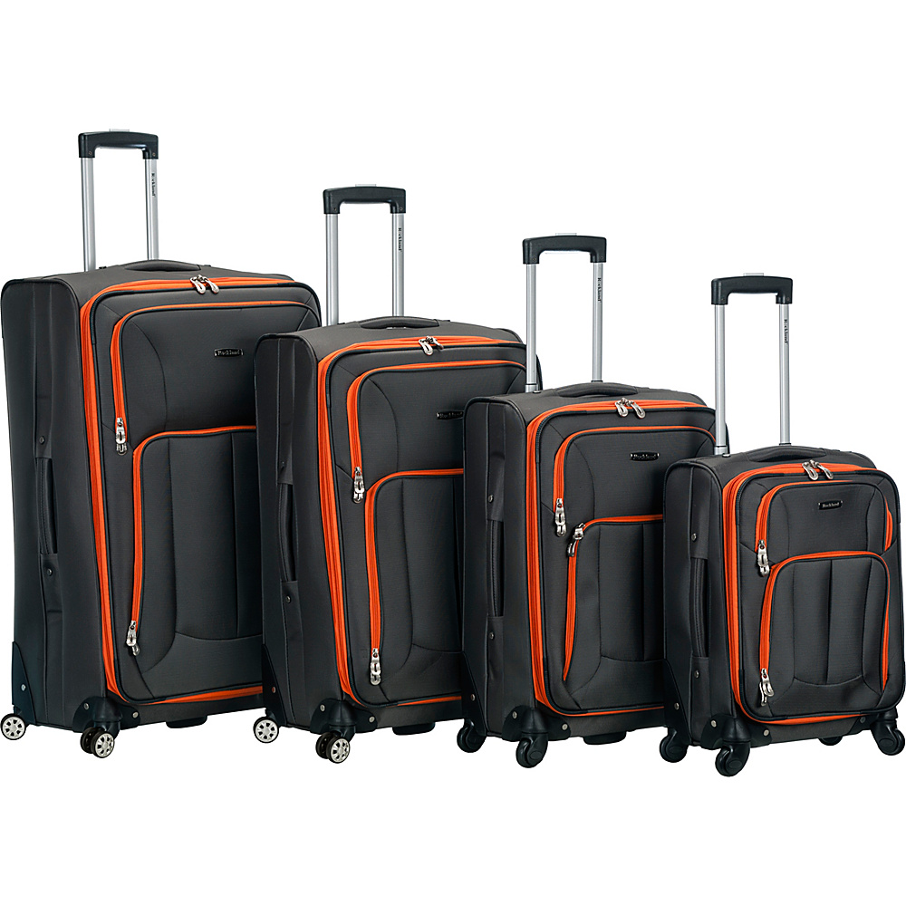 Rockland Luggage 4 Piece Quad Spinner Luggage Set Charcoal Rockland Luggage Luggage Sets