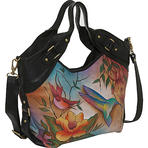 Anuschka Medium Shopper - Flying Jewels Flying Jewels - Anuschka Leather Handbags
