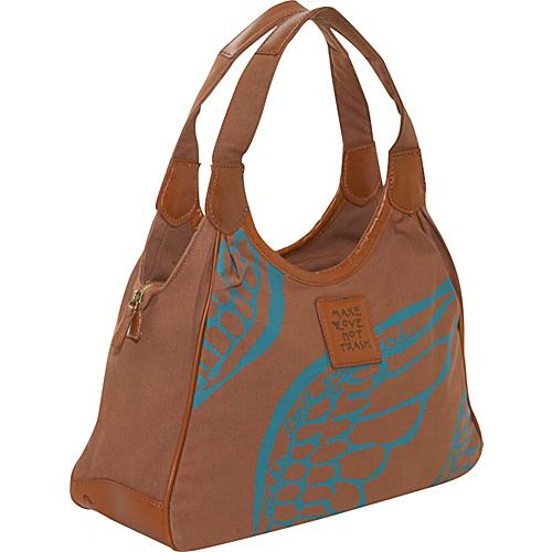 Make Love Not Trash Drop Zip Satchel - Shoulder Bag