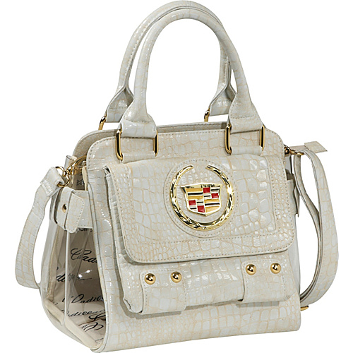 Ashley M Cadillac Faux Patent Leather Satchel - Shoulder Bag