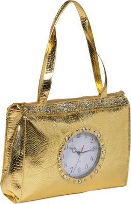 Ashley M Metallic Tick Tock Tote Bag - Tote