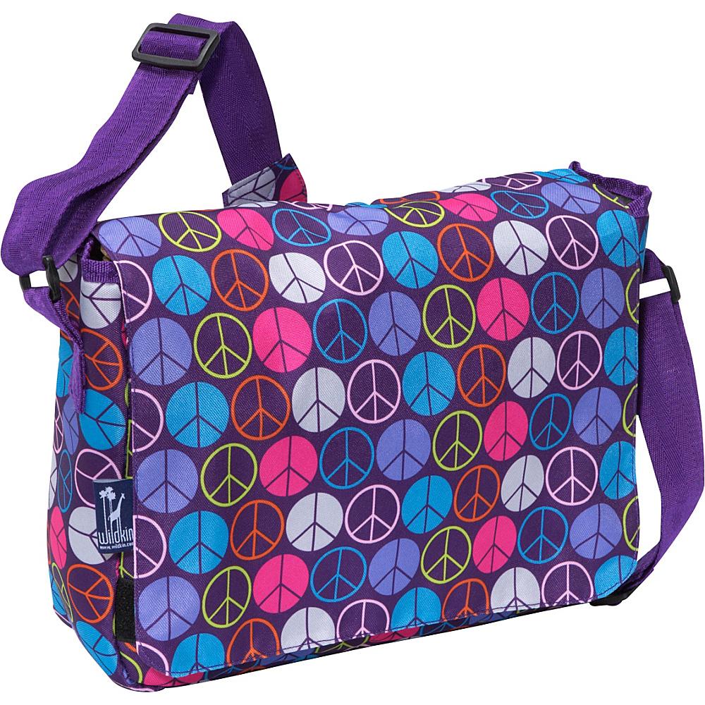 Wildkin Peace Signs Purple Kickstart Messenger Bag - Work Bags & Briefcases, Messenger Bags