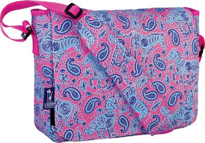 Wildkin Kickstart 13 x 10 inch Messenger Bag Watercolor Ponies Pink - Wildkin Messenger Bags