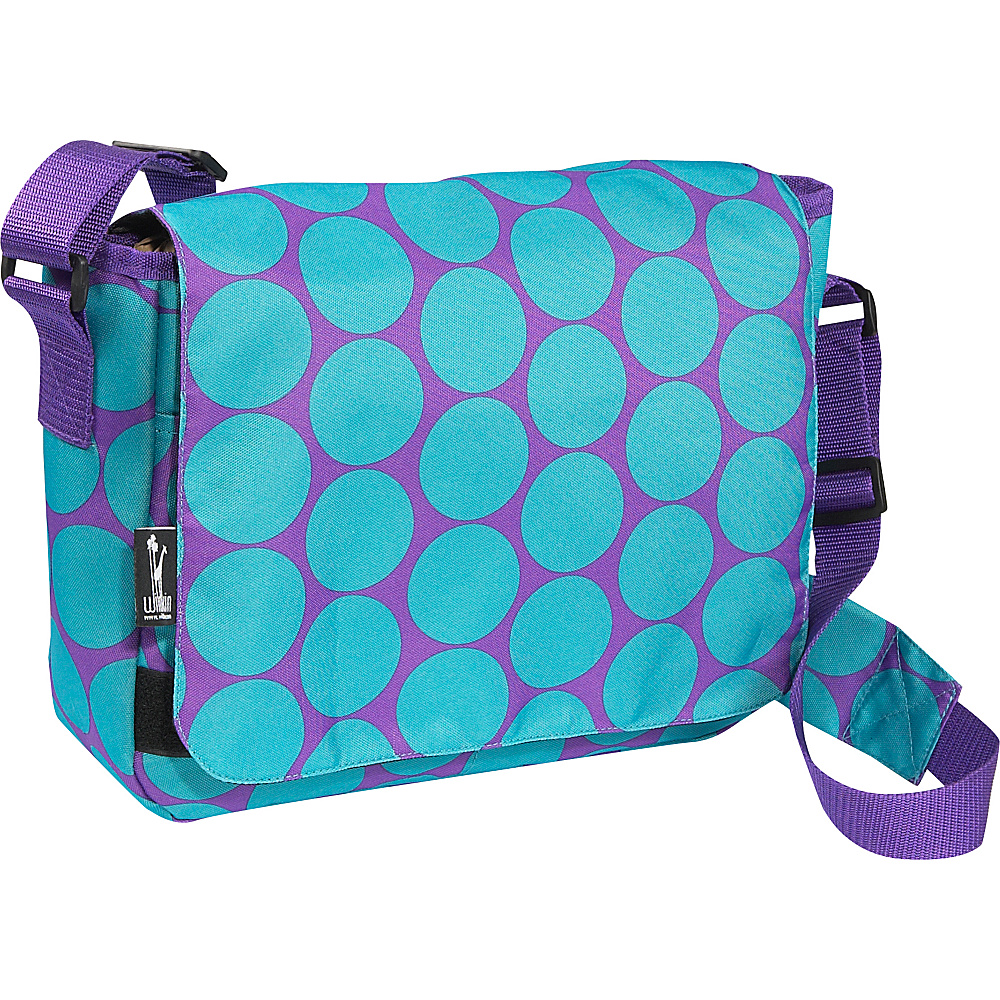 Wildkin Big Dot Aqua Kickstart Messenger Bag - Big Dots - Work Bags & Briefcases, Messenger Bags