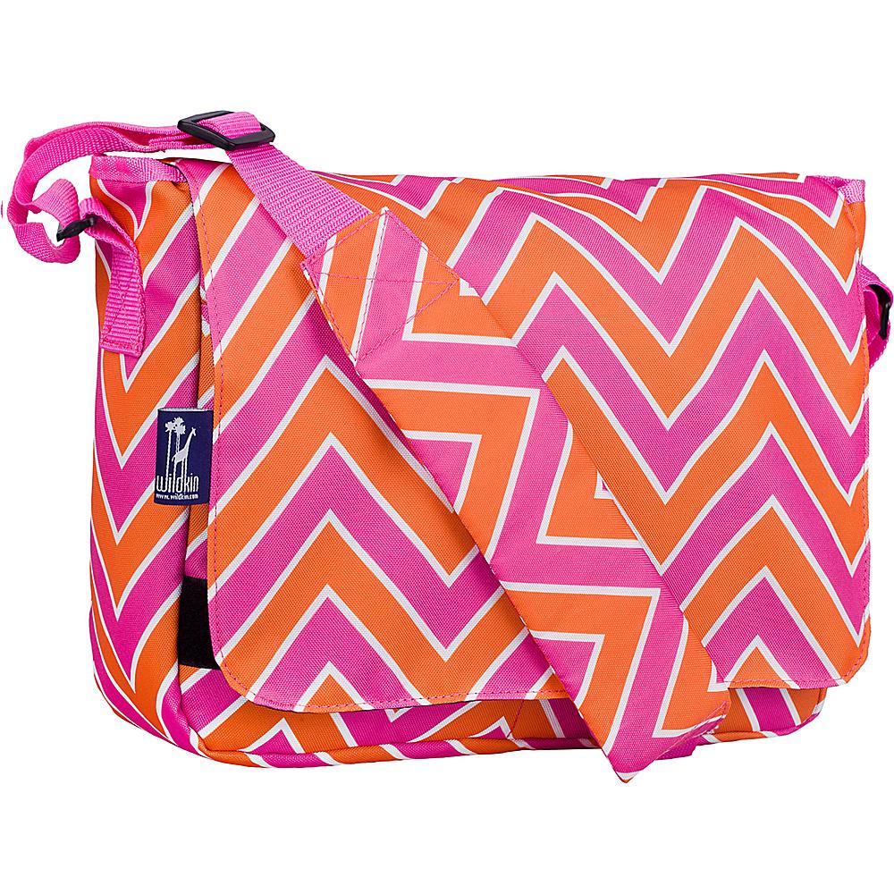 Wildkin Kickstart Messenger Bag Zigzag Pink Wildkin Messenger Bags
