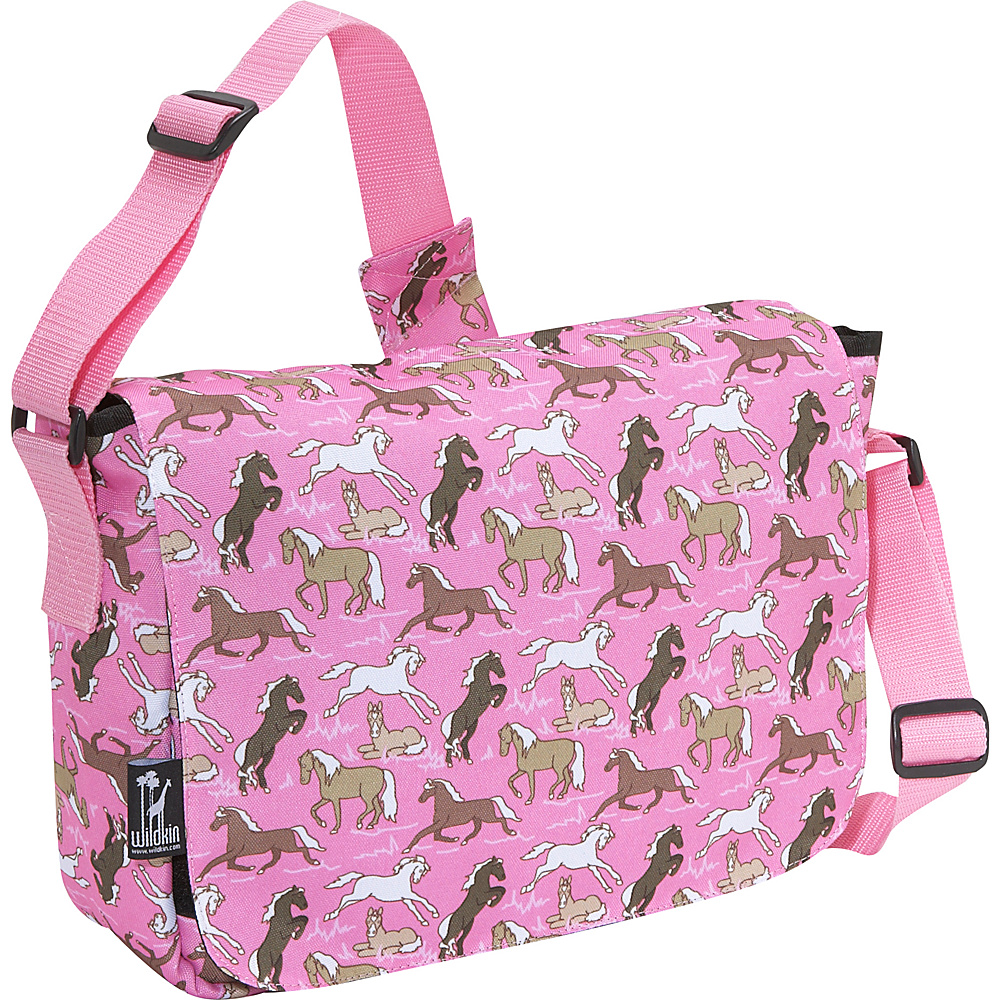 Wildkin Horses in Pink Kickstart Messenger Bag - Horses - Work Bags & Briefcases, Messenger Bags