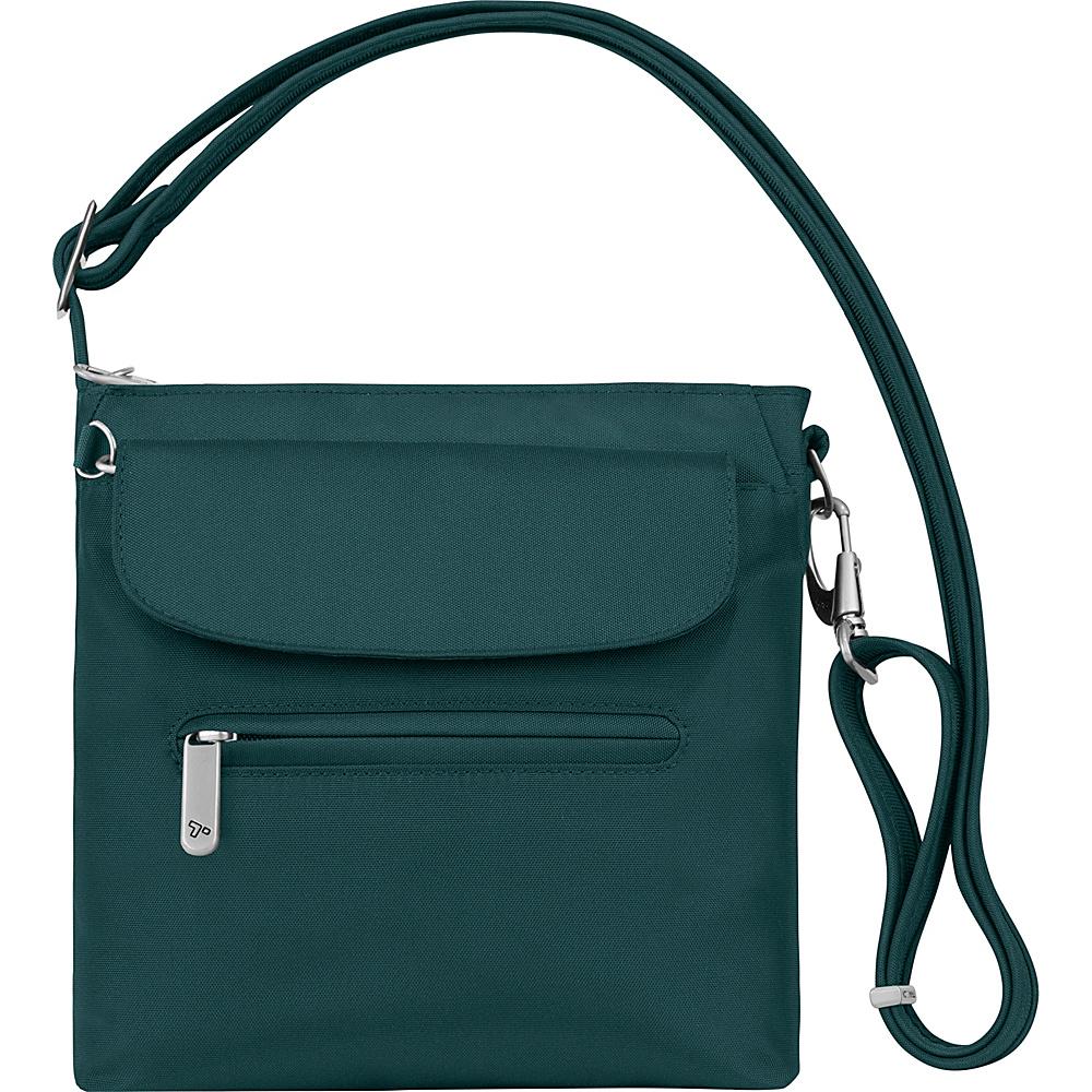 Travelon Anti-Theft Classic Mini Shoulder Bag - Exclusive Colors Peacock - Exclusive Color - Travelon Fabric Handbags - Handbags, Fabric Handbags