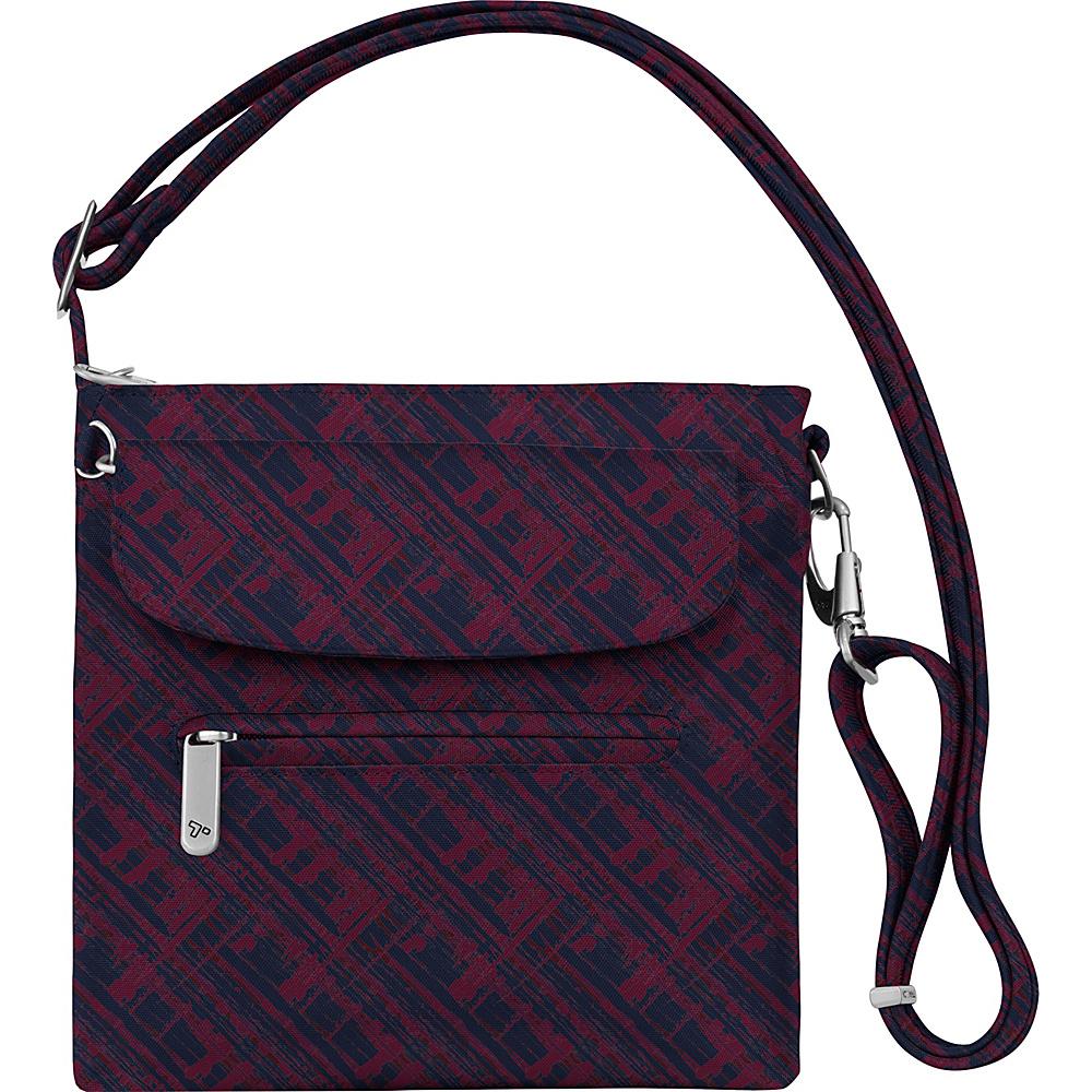 Travelon Anti-Theft Classic Mini Shoulder Bag - Exclusive Colors Raspberry Tartan - Exclusive Color - Travelon Fabric Handbags - Handbags, Fabric Handbags