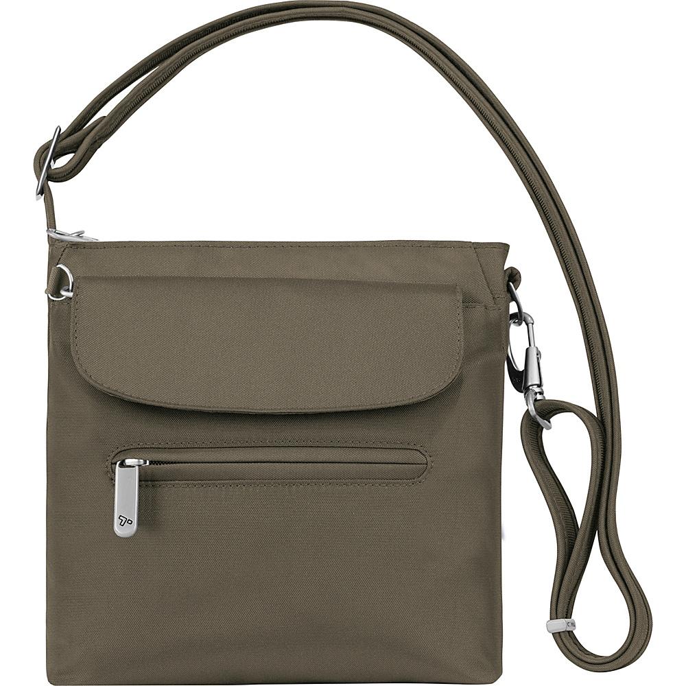 Travelon Anti-Theft Classic Mini Shoulder Bag - Exclusive Colors Nutmeg - Exclusive Color - Travelon Fabric Handbags - Handbags, Fabric Handbags