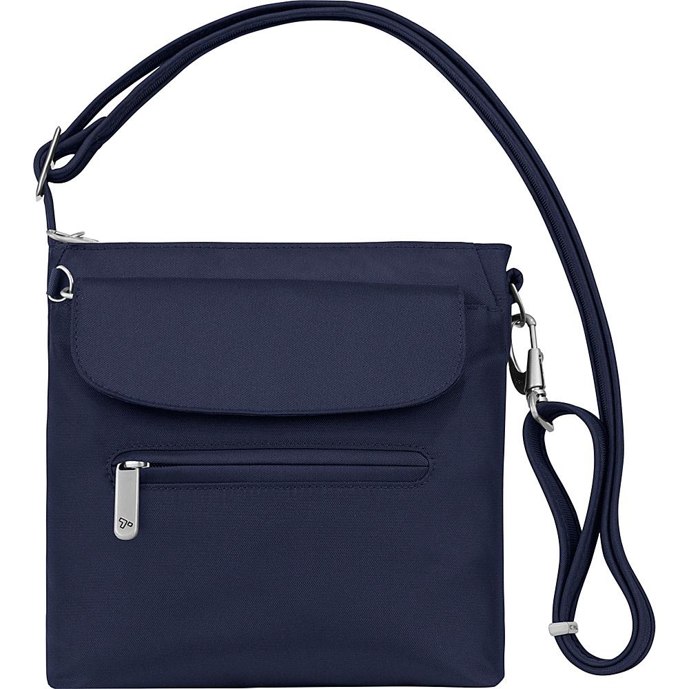 Travelon Anti-Theft Classic Mini Shoulder Bag - Exclusive Colors Lush Blue - Exclusive Color - Travelon Fabric Handbags - Handbags, Fabric Handbags