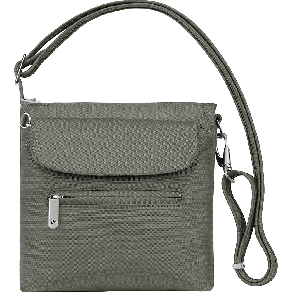 Travelon Anti-Theft Classic Mini Shoulder Bag - Exclusive Colors Pewter - Exclusive Color - Travelon Fabric Handbags - Handbags, Fabric Handbags