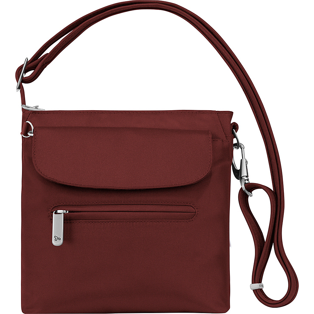 Travelon Anti-Theft Classic Mini Shoulder Bag - Exclusive Colors Wine - Travelon Fabric Handbags - Handbags, Fabric Handbags