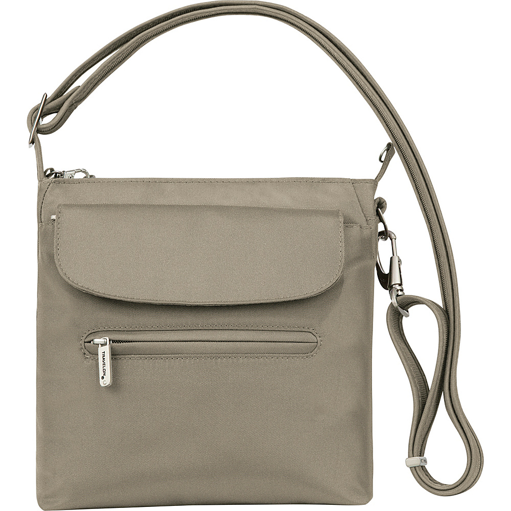 Travelon Anti-Theft Classic Mini Shoulder Bag - Exclusive Colors Stone - Travelon Fabric Handbags - Handbags, Fabric Handbags