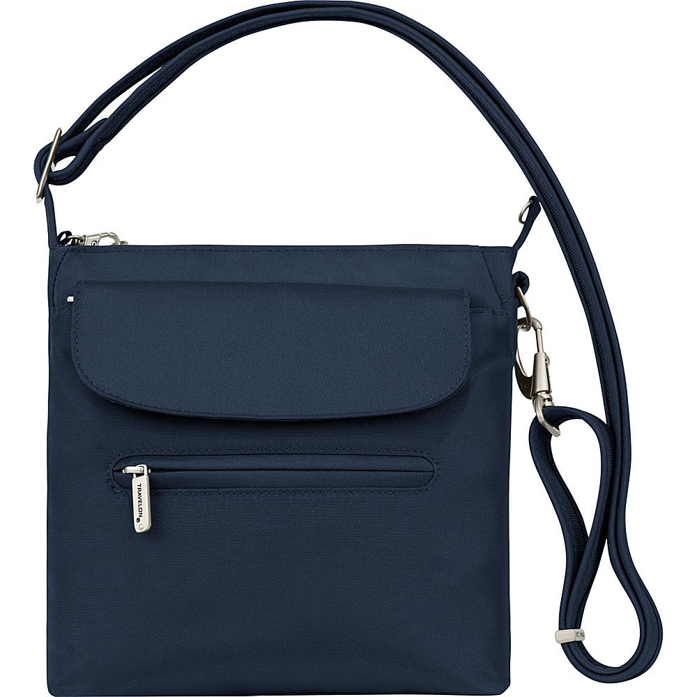 Travelon Anti-Theft Classic Mini Shoulder Bag - Exclusive Colors Midnight - Travelon Leather Handbags - Handbags, Leather Handbags