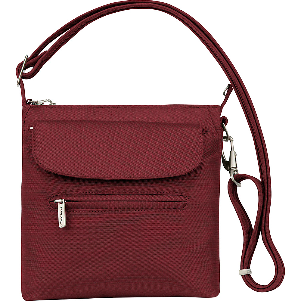 Travelon Anti-Theft Classic Mini Shoulder Bag - Exclusive Colors Cranberry - Travelon Fabric Handbags - Handbags, Fabric Handbags