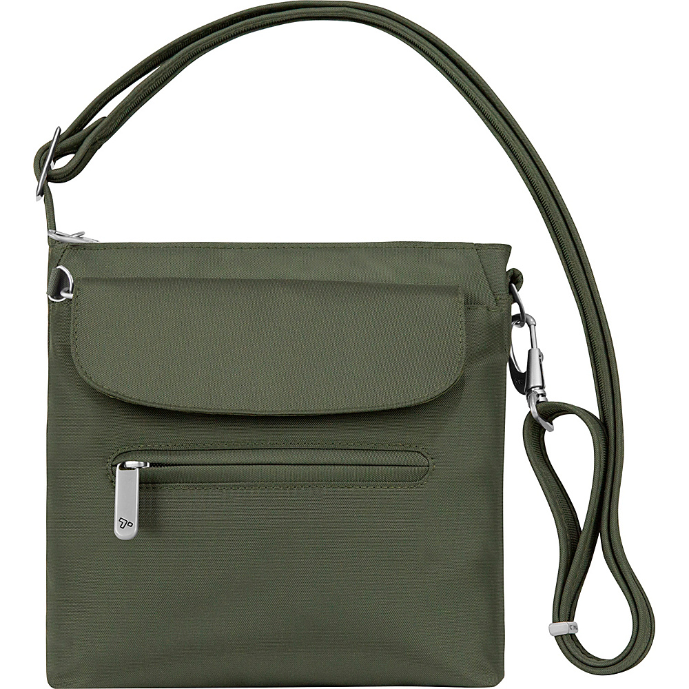 Travelon Anti-Theft Classic Mini Shoulder Bag - Exclusive Colors Olive- Exclusive Color - Travelon Fabric Handbags - Handbags, Fabric Handbags