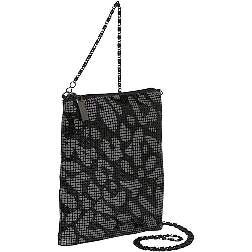 Savanna Animal Print Metal Mess Crossbody Bag