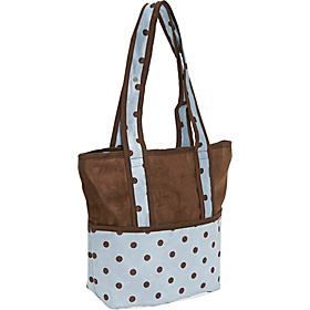 Tote Diaper Bag - Boy Dots Blue