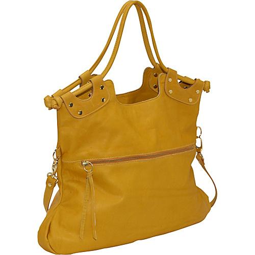 Pietro Alessandro Medium Foldover Tote Mustard - Leather Handbags