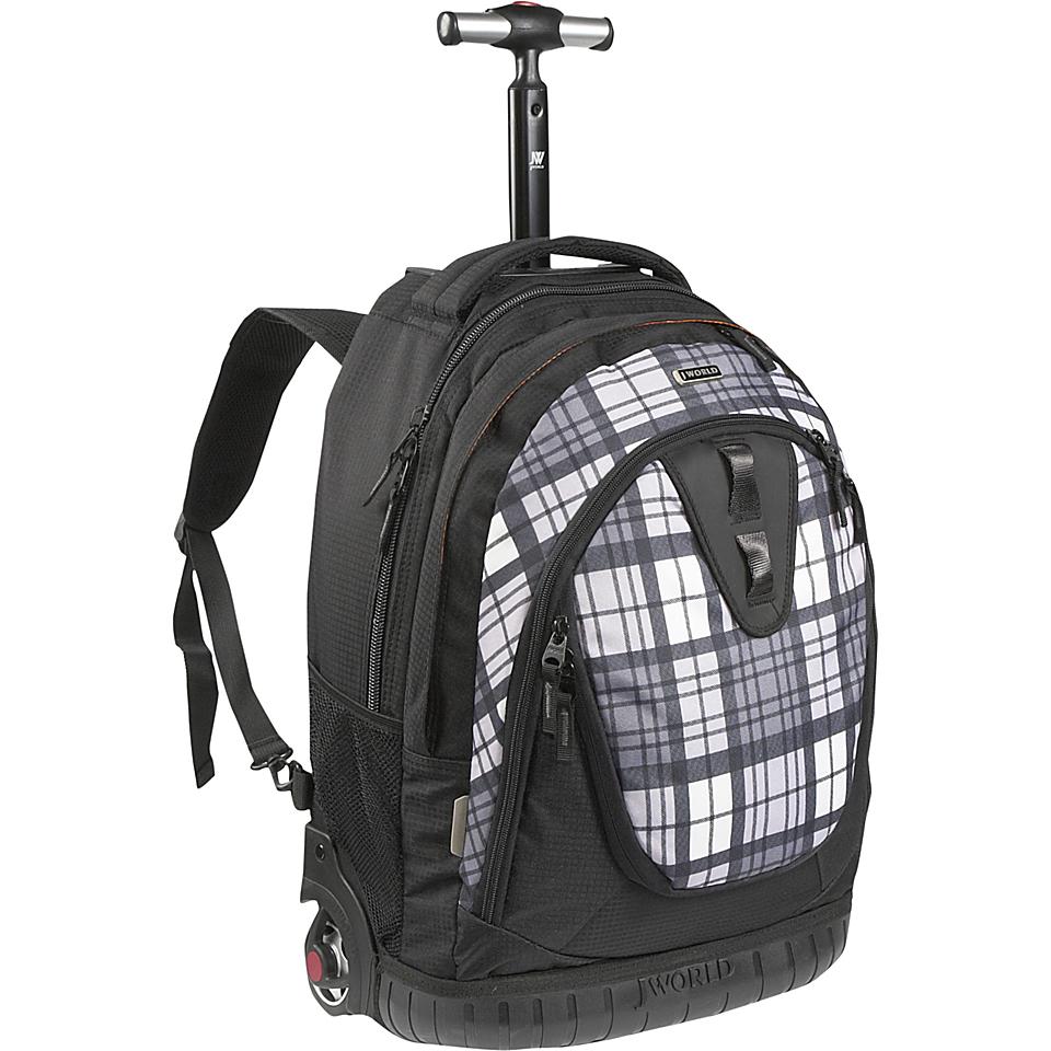 an image to enlarge j world drake laptop rolling backpack tartan grey
