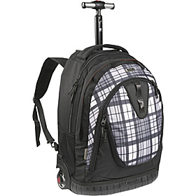 Drake Laptop Rolling Backpack Tartan Grey