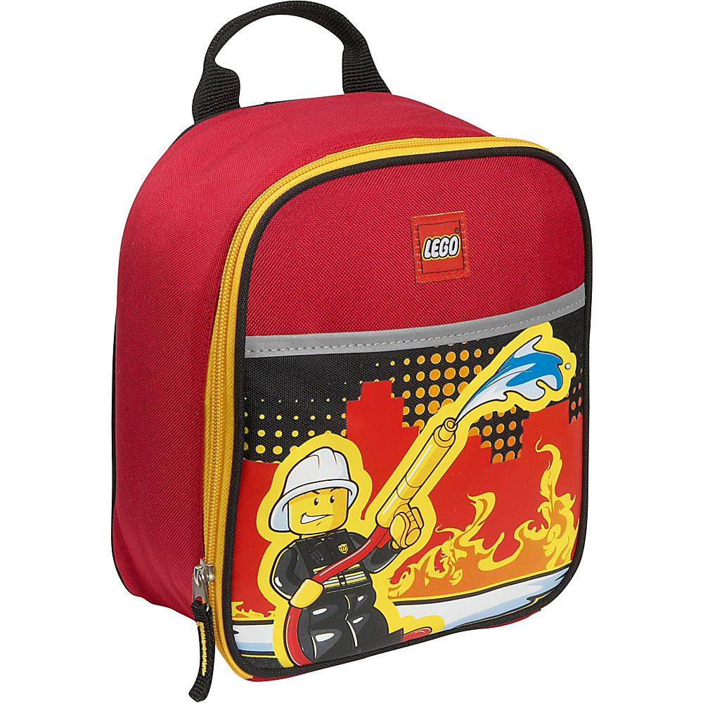 LEGO Fire City Nights Vertical Lunch Bag RED LEGO Travel Coolers