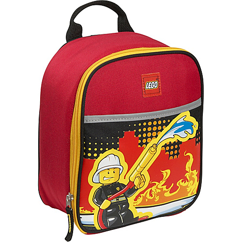 LEGO Fire City Nights Vertical Lunch Bag RED - LEGO Travel Coolers