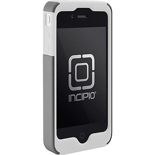 Incipio SILICRYLIC for iPhone 4 - White/Silver