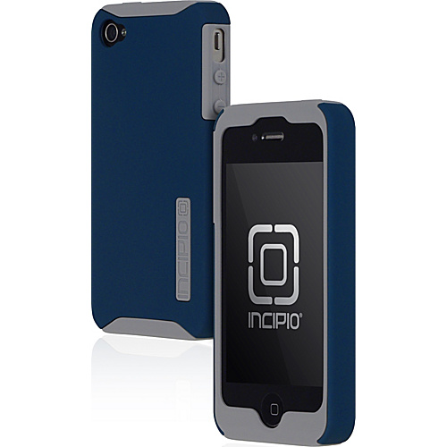 Incipio SILICRYLIC for iPhone 4 - Light Gray/Blue