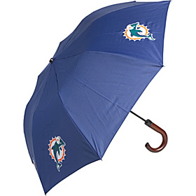 Miami Dolphins Woody Umbrella Navy