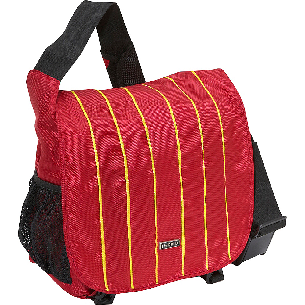 J World Indian Laptop Messenger - Yellow/Red - Work Bags & Briefcases, Messenger Bags